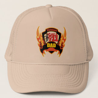 Fireman Dad Fathers Day Gifts Trucker Hat