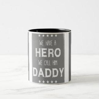 fireman daddy Two-Tone coffee mug