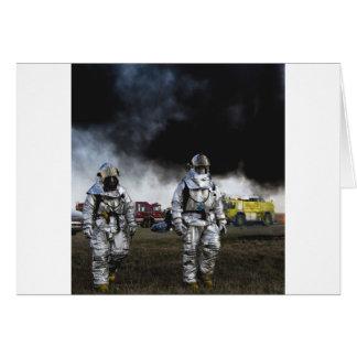 Fireman Fire Flame Rescue Destiny Digital Greeting Card