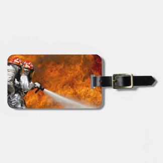Fireman Fire Flame Rescue Destiny Digital Luggage Tag
