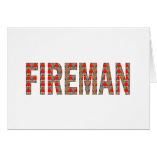 FIREMAN Fire Service : Risk Responsibility Danger Card