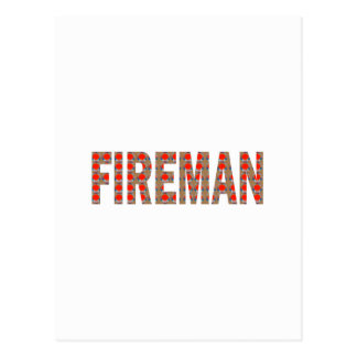 FIREMAN Fire Service : Risk Responsibility Danger Post Card