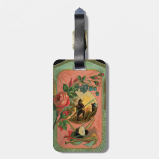 Fireman Firefighter 1880's Art Luggage Tag