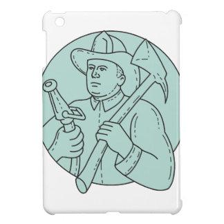 Fireman Firefighter Axe Hose Circle Mono Line iPad Mini Covers