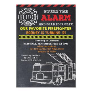 Fireman Firefighter Birthday Invitation