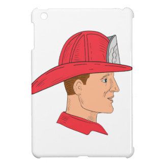 Fireman Firefighter Vintage Helmet Drawing Case For The iPad Mini