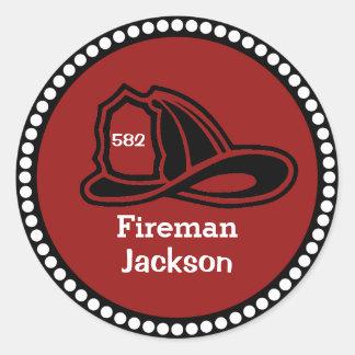 Fireman Hat Stickers