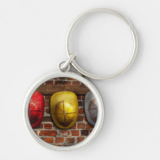 Fireman - Hats - Pick a hat, any hat Silver-Colored Round Keychain