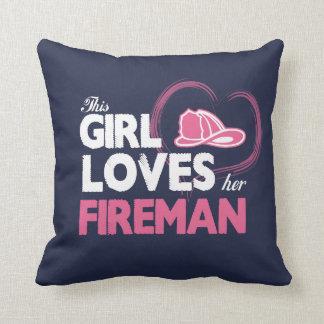 Fireman Lover Throw Pillow