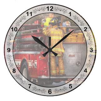Fireman - Metuchen Fire Department  Large Clock