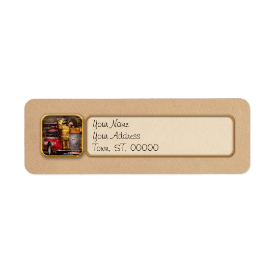 Fireman - Metuchen Fire Department Return Address Label