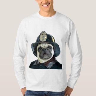 Fireman Pug Dog T-Shirt