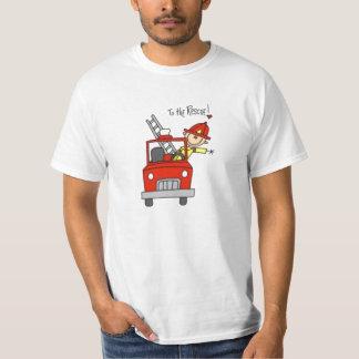 Fireman Stick Figure T-Shirt