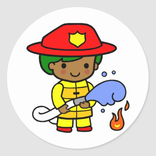 Fireman Sticker