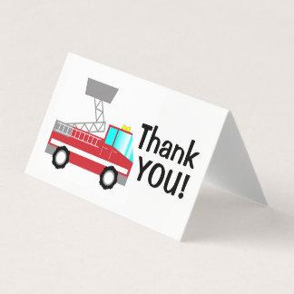 Fireman thank you card | fire truck notecard