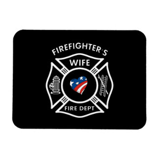 Fireman Wives USA Magnet