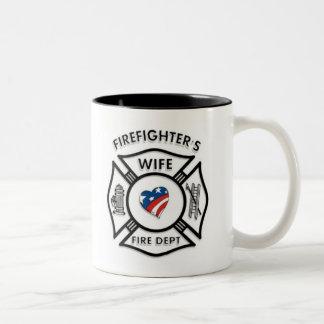 Fireman Wives USA Two-Tone Coffee Mug