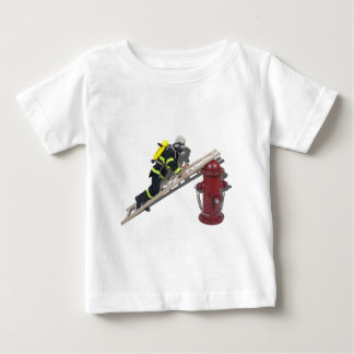 FiremanLadderHydrant050512.png Baby T-Shirt