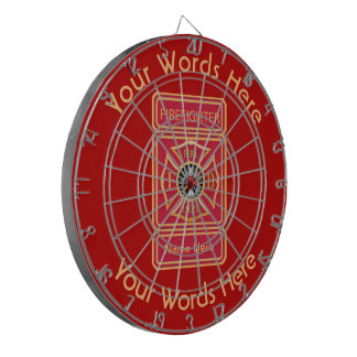Fireman's Cross Custom Dartboard