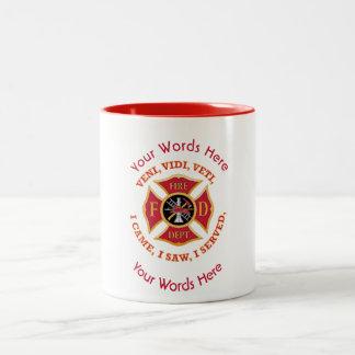 Fireman's Cross VVV Custom Two-Tone Coffee Mug