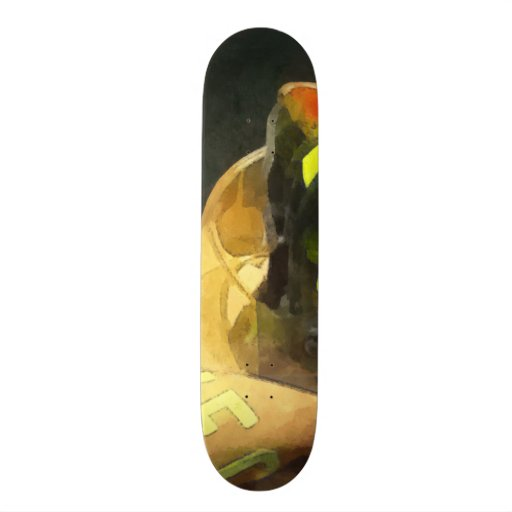 Fireman's Helmet on Uniform Skate Boards