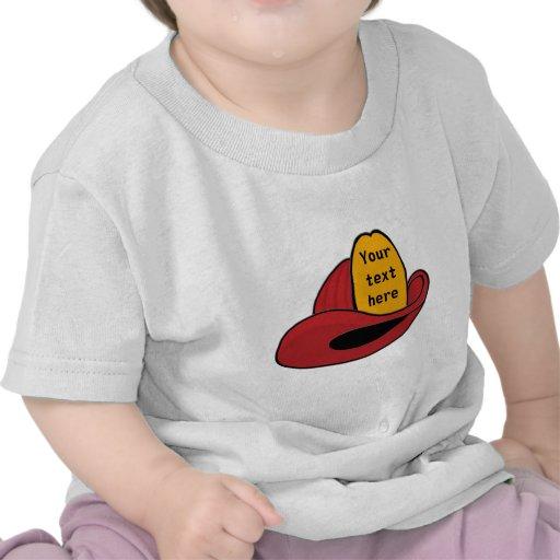 Fireman's Helmet Whimsical Cartoon Art Tee Shirt