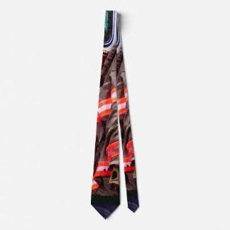 Fireman's Jacket On Fire Truck Tie