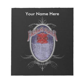 Firemans Prayer_ Notepad