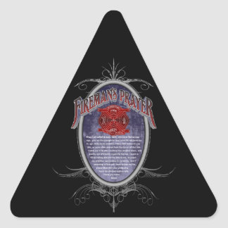 Firemans Prayer_ Triangle Sticker