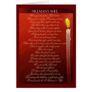 Fireman's Wife ... Card