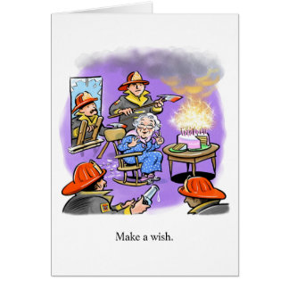 Firemen Birthday Card