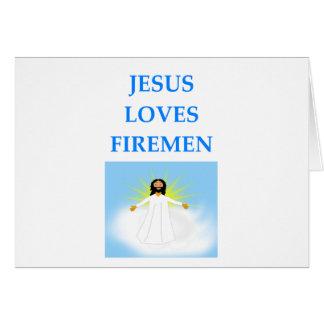 FIREMEN CARD