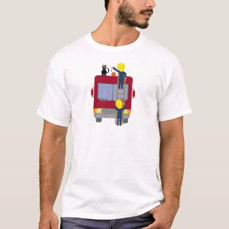 Firemen rescuing cat T-shirt
