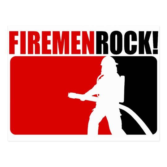 Firemen Rock! Postcard