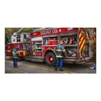 Firemen - The modern fire truck Photo Card