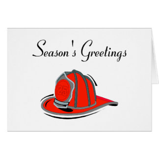 Firemens Seasons Greetings Card