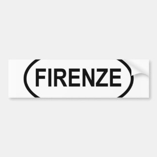 Firenze Bumper Sticker