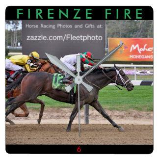 Firenze Fire Zazzles Square Wall Clock