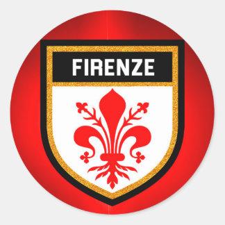 Firenze Flag Round Sticker