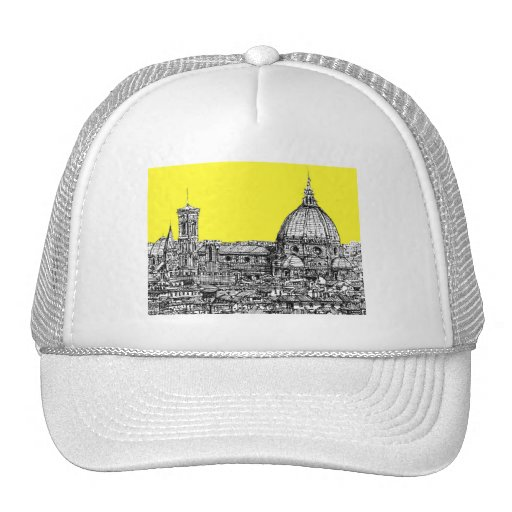 Firenze in canary yellow mesh hat