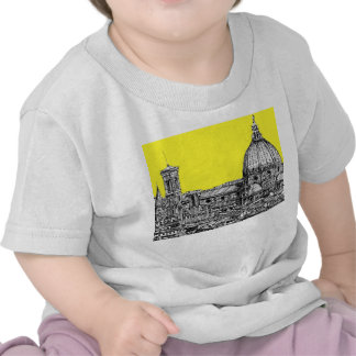 Firenze in canary yellow t-shirts