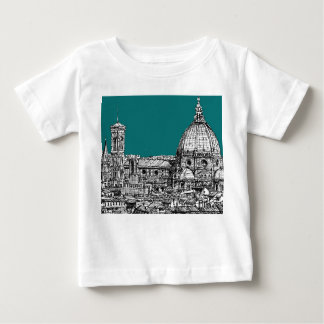 Firenze in turquoise tee shirts