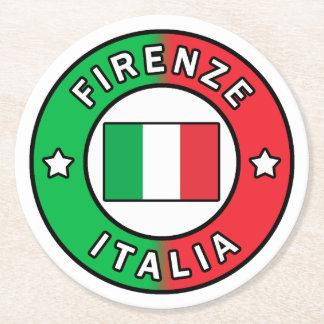 Firenze Italia Round Paper Coaster
