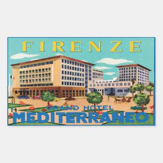 Firenze Large Mediterraneo Hotel Sticker