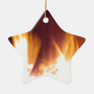 firepit dancing flames ceramic ornament