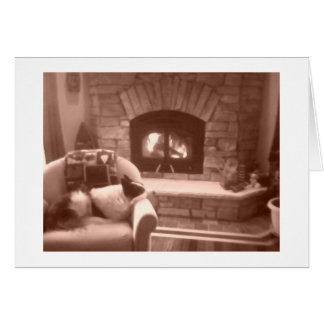Fireplace Card