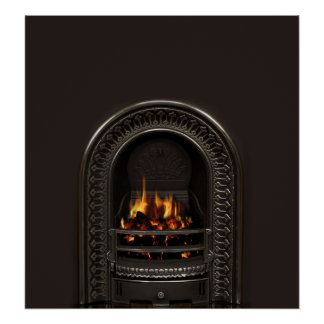 Fireplace Poster for Bricked Up Fireplaces