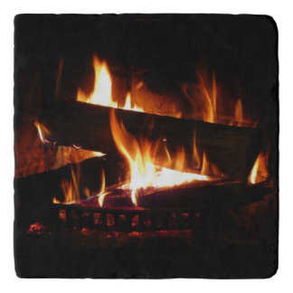 Fireplace Warm Winter Scene Trivet