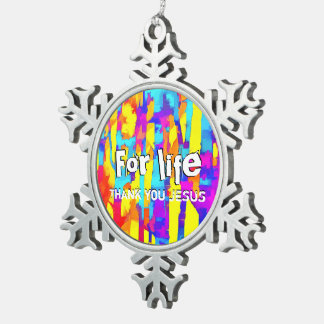 Fires And Passion One Snowflake Pewter Christmas Ornament