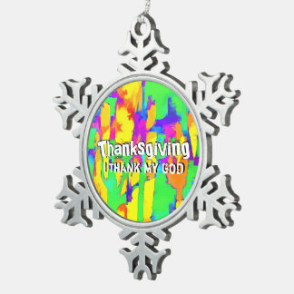 Fires And Passion Three Snowflake Pewter Christmas Ornament